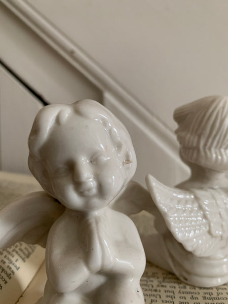 Pair of Porcelain Cherubs