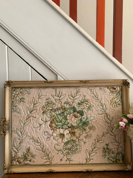 Gilt Framed Vintage Quilt