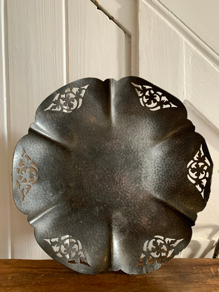 Antique Pewter Dish