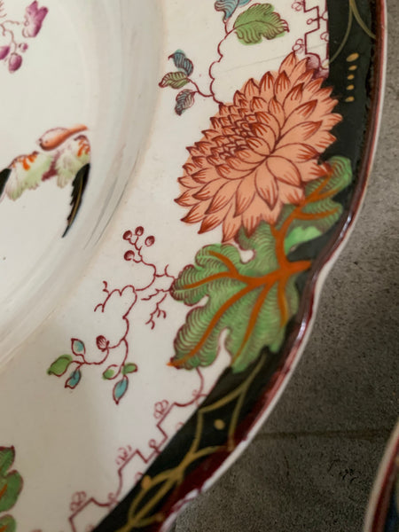 "19th Century ""Hanly""'Chinoiserie Plate by Ashworth Bros"