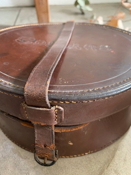 Old Leather Collar Box