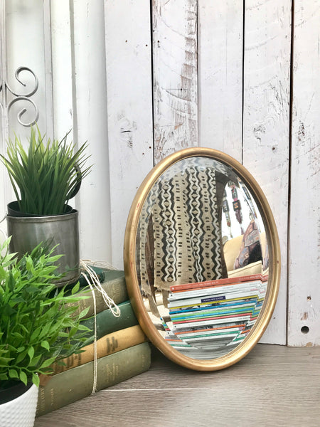 Oval Gold Vintage Mirror