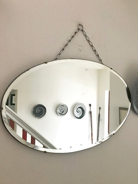 Beautiful Art Deco Frameless Mirror