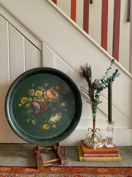 Large Vintage French Toleware Metal Tray