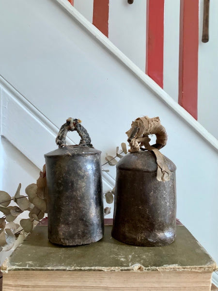 Pair of Old Iron Cow Bells