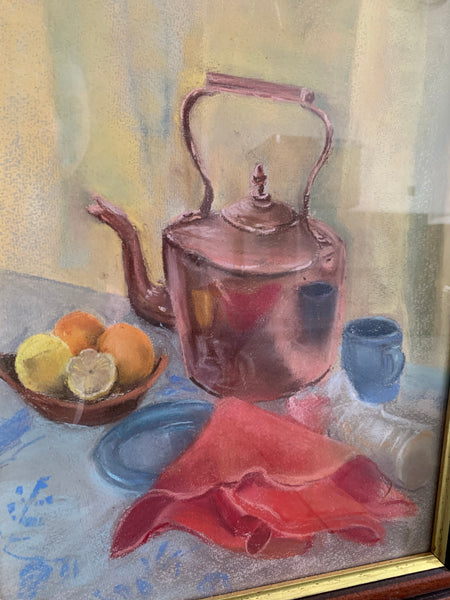 Copper Glow: Old Pastel Still-Life