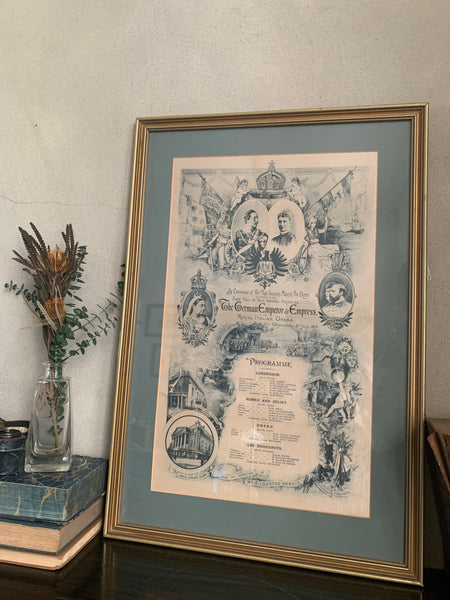 Large 1800s Framed Theatre Poster
