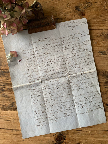 Handwritten Letter Dated 1800