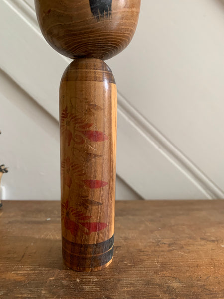 Small Thin Vintage Japanese Kokeshi Doll