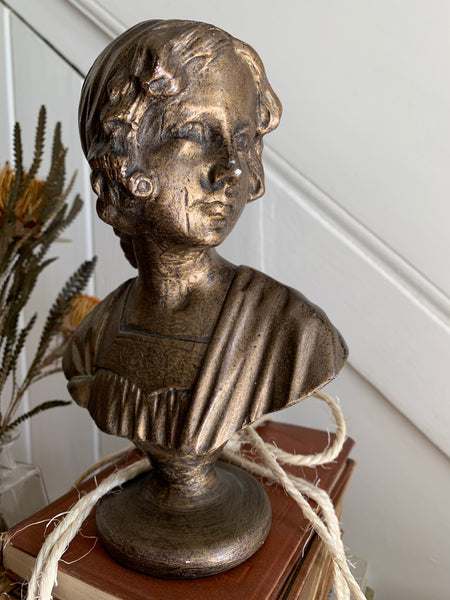 Gold Lacquered Plaster Bust