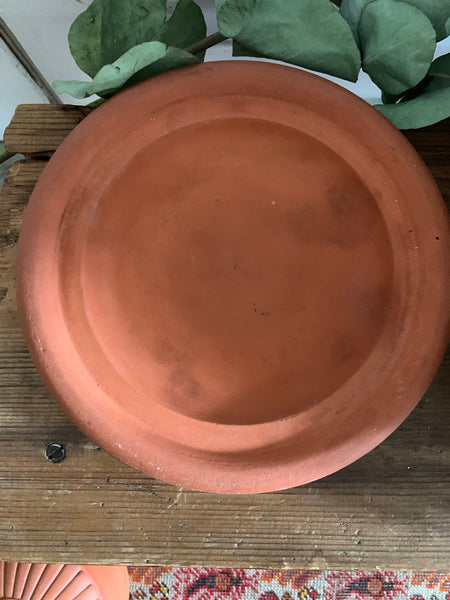 Antique Terracotta Cheese Dome and Plate