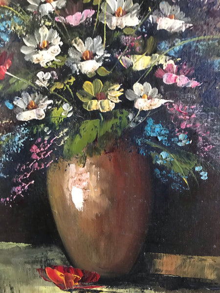 Beautiful Floral Still-Life Oil Painting