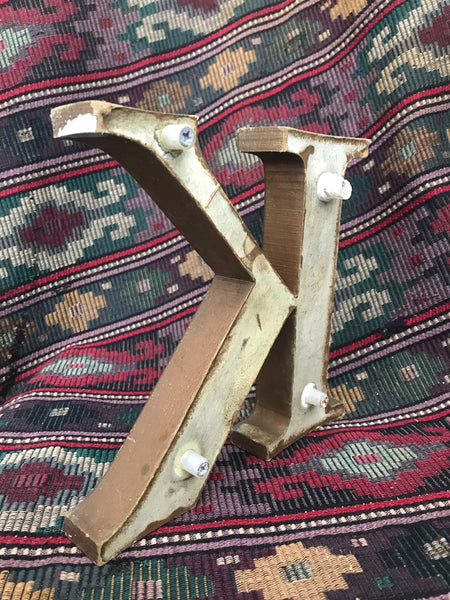 "Rustic Stand-Alone Letter ""K"""