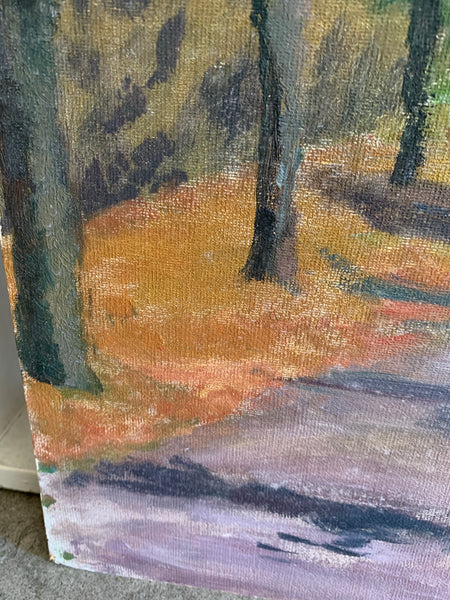 Forest Path: Small Oil on Board