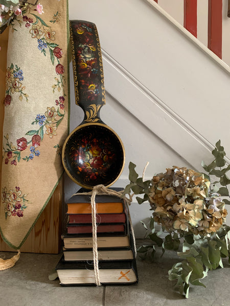 Oversized Antique Papier Mache Ladle