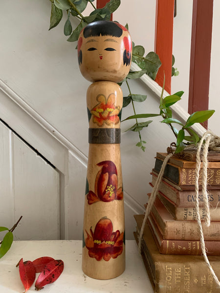 Large Vintage Japanese Kokeshi Doll