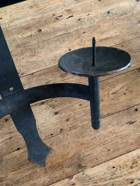 Wrought Iron Wall-Hung Candle Holder