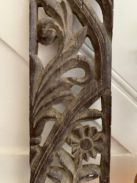 Hand-Carved Decorative Wood Panel