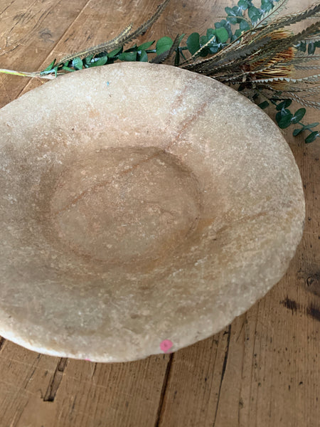 Small Antique Marble Stone Bowl 3