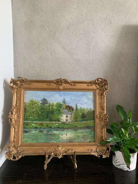 Small French Signed Oil on Panel