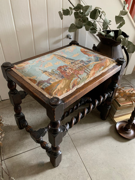19th Century Tapestry Piano Stool