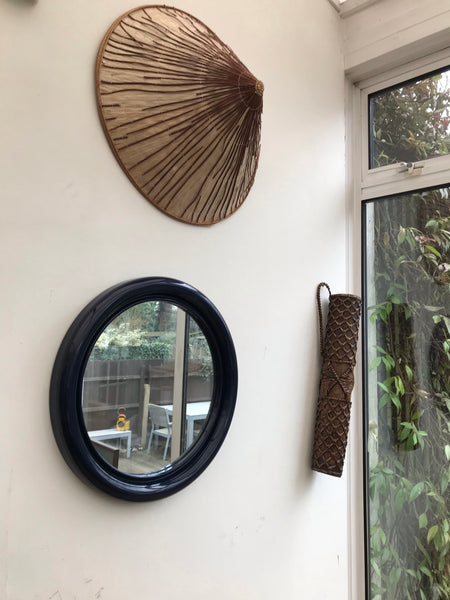 Original 1960s Navy Blue Habitat mirror