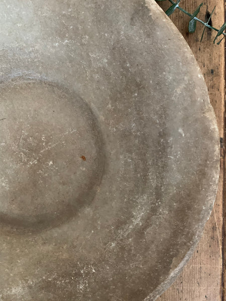 Small Antique Marble Stone Bowl 2