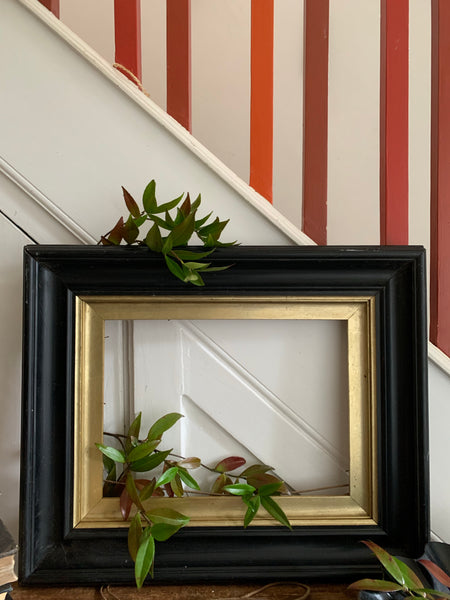 Decorative Ebony & Gilt Frame