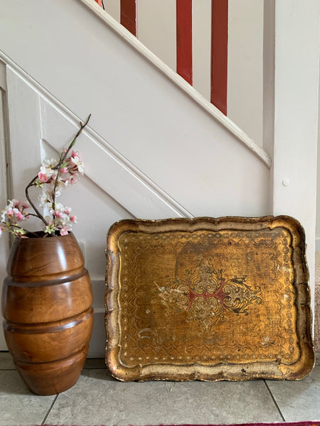 Florentine Wood Gilt Tray