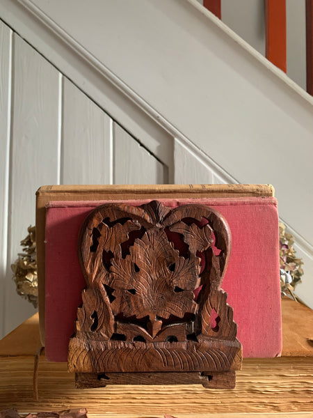 Hand Carved Tabletop Bookcase