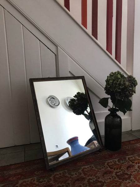 Large Dressing Table Mirror with rustic wooden frame