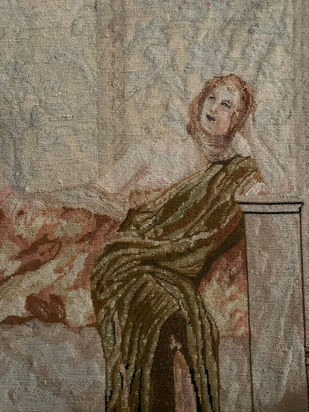 Tapestry on Board of a Classical Lady