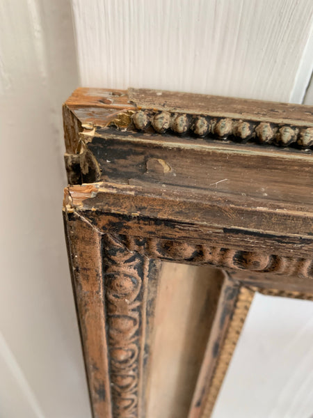 Large Rustic Gold Frame with beautiful patina