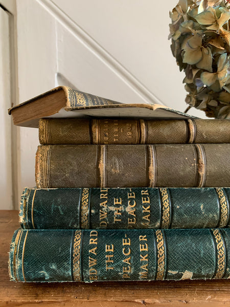 Green Book Bundle with Leather Spines