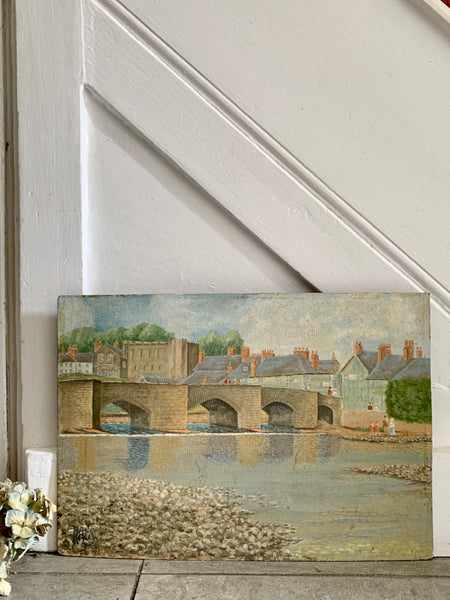 Old Stone Bridge: Oil on Board
