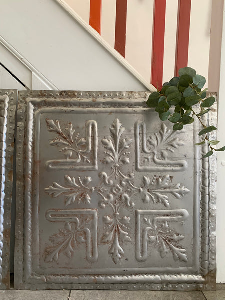 Large Rustic Tin Ceiling Tile