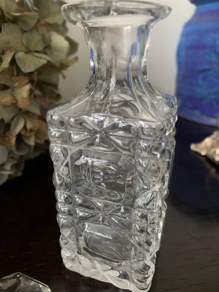 Small Victorian Cut-Glass Perfume Bottle