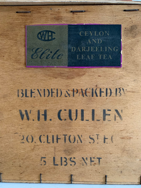 Vintage W.H.Cullen Plywood Tea Box