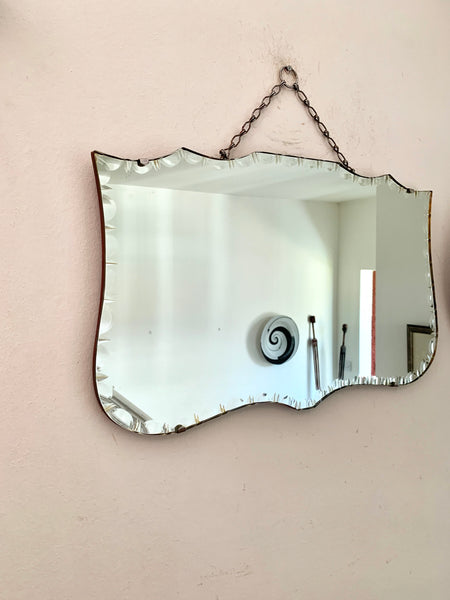 Art Deco Mirror with unusual bevelled glass