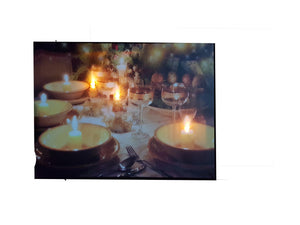Light Up Painting With Candles & Wine Design - 101B From The Gift Village South Africa