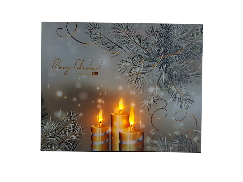 Light Up Painting With Chrismas Calm Silver Design - 101C From The Gift Village South Africa