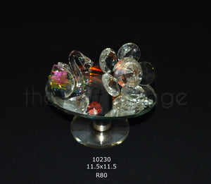 Crystal Duck & Flower For Decoration - 10230