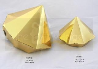 Triangle Prism Gold (small 5pc/pack)- 10281G