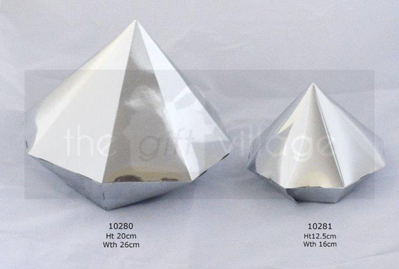 Triangle Prism Silver (big 5pc/pack)- 10281S