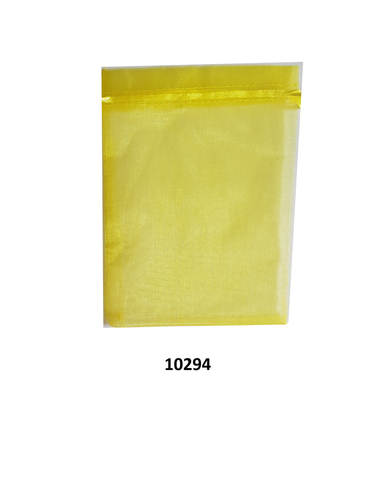Plain gold organza bag 20 cm x 13 cm (20 pcs)
