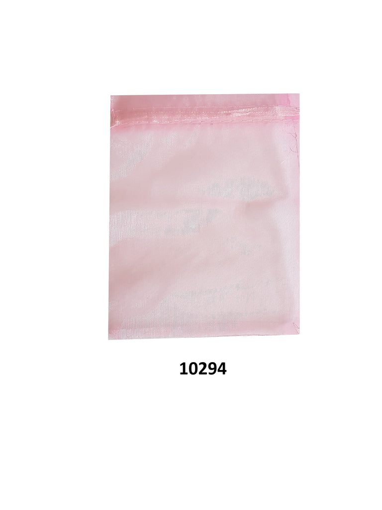 Plain Pink organza bag 20 cm x 13 cm (20 pcs)