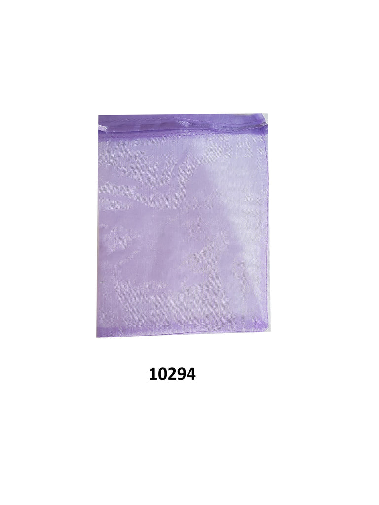 Plain purple organza bag 20 cm x 13 cm (20 pcs)