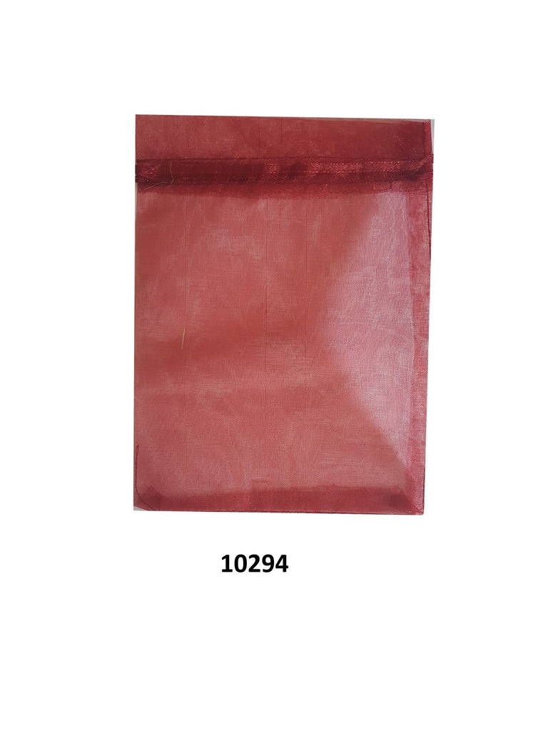 Plain red organza bag 20 cm x 13 cm (20 pcs)