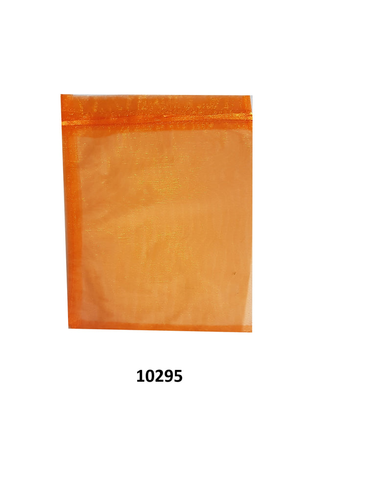 Plain orange organza bag 23 cm x 16.5 cm (20 pcs)