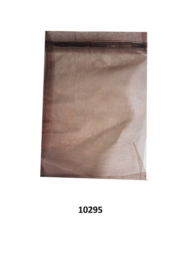 Plain brown organza bag 30 cm x 19 cm (20 pcs)